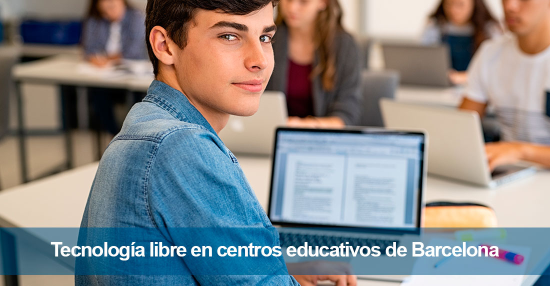 Tecnología libre en centros educativos de Barcelona