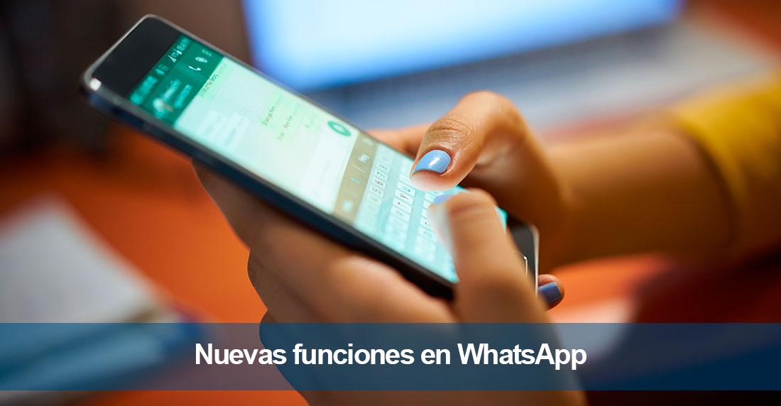 Las nuevas funciones en WhatsApp