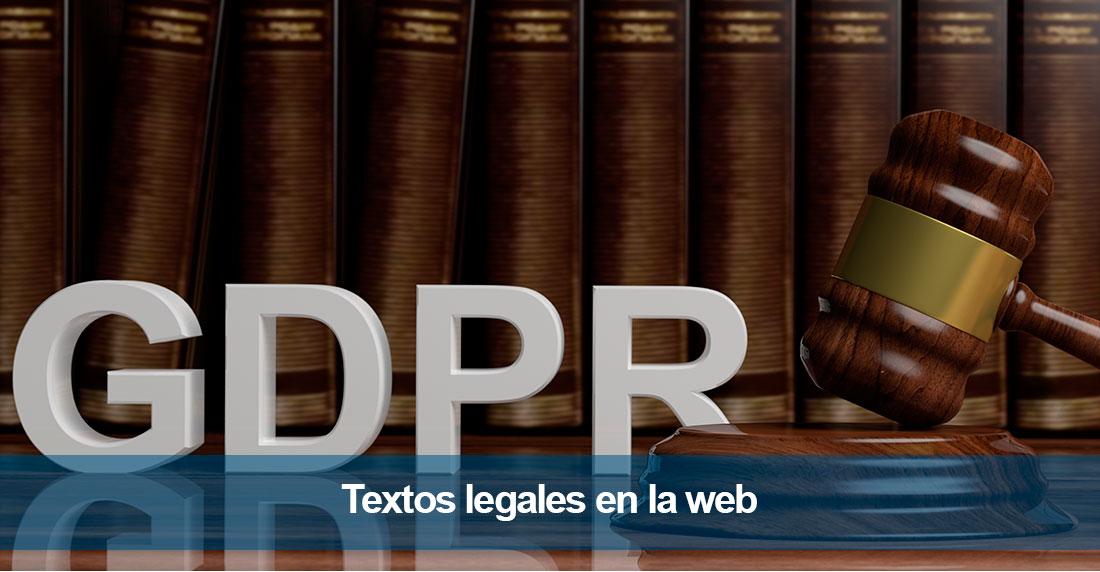 Textos legales en la web