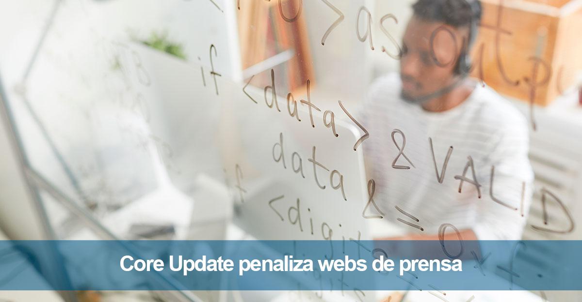 Core Update penaliza a webs de prensa