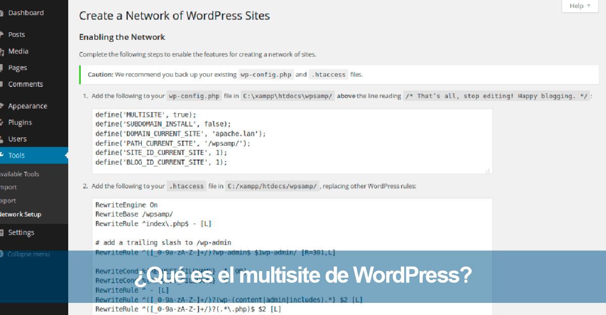 ¿Qué es el multisite de WordPress?