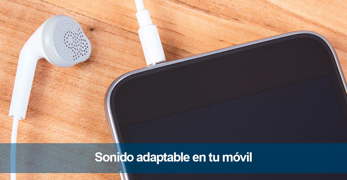 Sonido adaptable automático de tu móvil