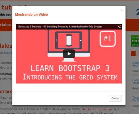 Ventanas modales con BootStrap y WordPress